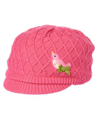 Sweet Pink Birdie Sweater Hat by Gymboree