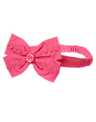 Sweet Pink Ric Rac Bow Fruffle by Gymboree