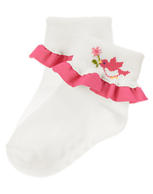 Baby Ivory Birdie Ruffle Sock by Gymboree