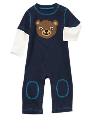 Navy Bear One-Piece by Gymboree