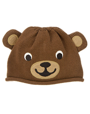 Beary Brown Bear Sweater Hat by Gymboree