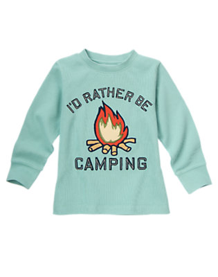 Boys Kayak Blue Campfire Ribbed Tee by Gymboree