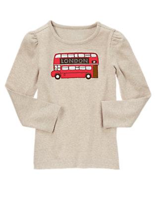 Oatmeal Heather Gem London Bus Tee by Gymboree