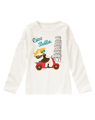 Jet Ivory Gem Ciao Bella Tee by Gymboree