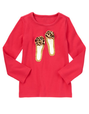 London Red Leopard Rosette Glitter Shoes Tee by Gymboree