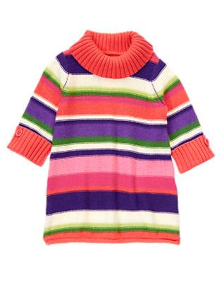 Girls Purple Freesia Stripe Stripe Tunic Sweater by Gymboree