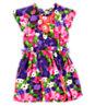 Watercolor Flower Bubble Dress