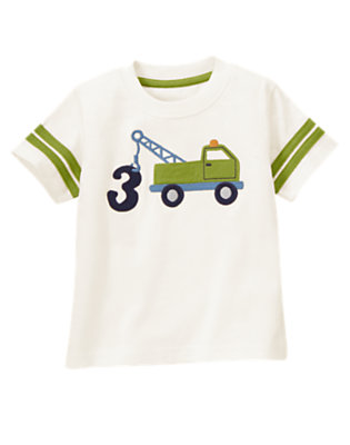 Toddler Boys Ivory 3rd Birthday Tow Truck Tee by Gymboree