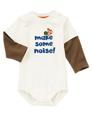 Baby Ivory Make Some Noise Bodysuit by Gymboree