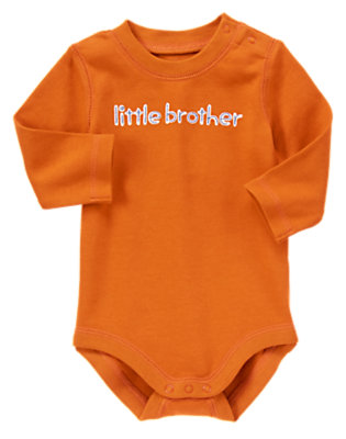 Rust Little Brother Bodysuit by Gymboree