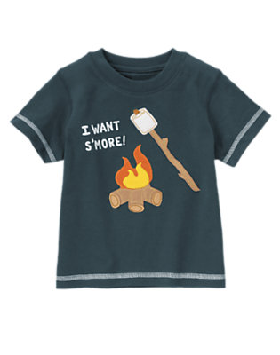 Midnight Navy Short Sleeve S'Mores Tee by Gymboree
