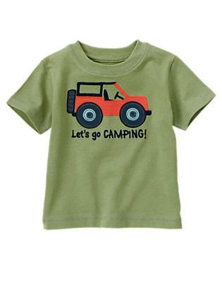Spruce Green Short Sleeve Camp Jeep Tee by Gymboree