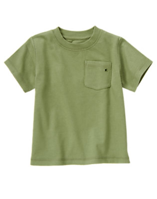 Spruce Green Always Soft Pocket Tee by Gymboree