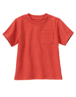 Campfire Red Always Soft Pocket Tee by Gymboree