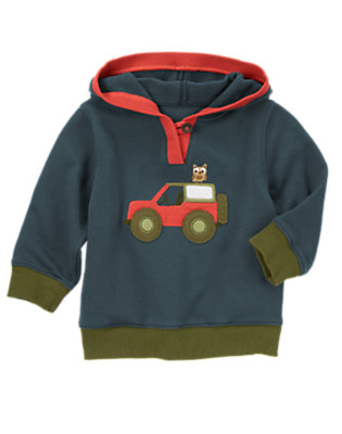 Soft Navy Camp Jeep Hoodie by Gymboree