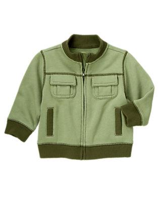 Toddler Boys Spruce Green Zip Fleece Jacket by Gymboree