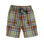 Plaid Pull-On Short
