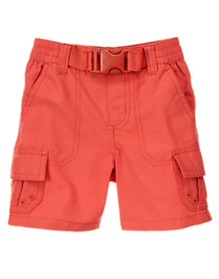 Campfire Red Pull-On Belted Cargo Short by Gymboree