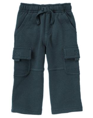 Soft Navy Fleece Cargo Active Pant by Gymboree