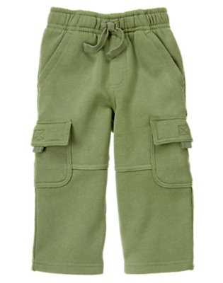 Spruce Green Fleece Cargo Active Pant by Gymboree