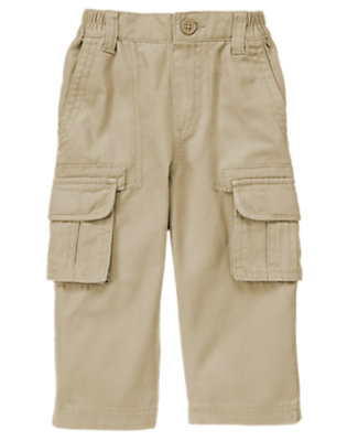 Khaki Canvas Cargo Pant by Gymboree