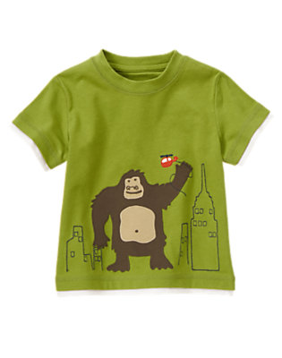 Chartreuse Green Ape In City Tee by Gymboree
