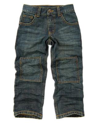 Boys Denim Knee Patch Jean by Gymboree