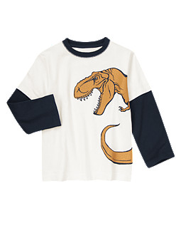 Big Dino Double Sleeve Tee