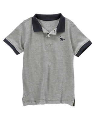 Navy Heather Dinosaur City Pique Polo Shirt by Gymboree