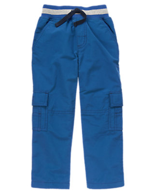 Boys Fall Navy Jersey Lined Cargo Active Pant by Gymboree