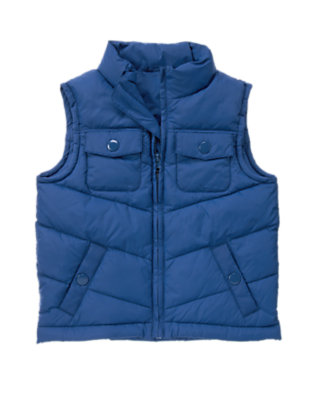 Fall Navy Puffer Vest by Gymboree
