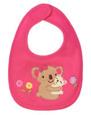 Baby Bright Pink Koala Baby Bib by Gymboree