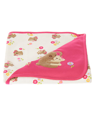 Baby Bright Pink Koala Baby Blanket by Gymboree
