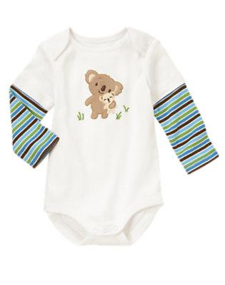 Baby Ivory Koala Baby Double Sleeve Bodysuit by Gymboree