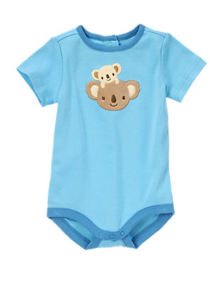 Baby Light Blue Koala Baby Bodysuit by Gymboree
