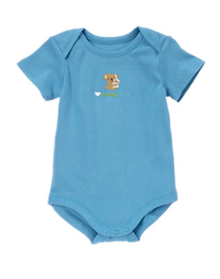 Baby Blue I Heart Daddy Hugs Bodysuit by Gymboree