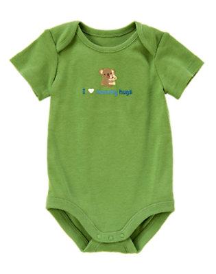 Baby Green I Heart Mommy Hugs Bodysuit by Gymboree