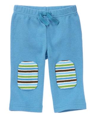 Baby Blue Koala Knee Patch Pant by Gymboree