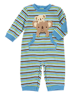 Baby Blue Stripe Koala Baby Stripe One-Piece by Gymboree
