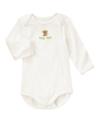 Baby Ivory Hug Me Bodysuit by Gymboree