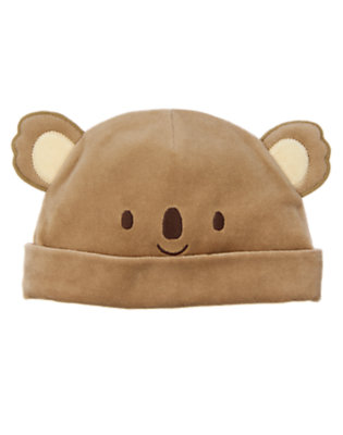 Baby Koala Brown Koala Velour Beanie by Gymboree
