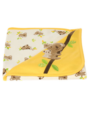 Baby Bright Yellow Koala Baby Blanket by Gymboree