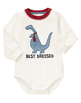 Toddler Boys White Best Dressed Ringer Bodysuit/Tee by Gymboree