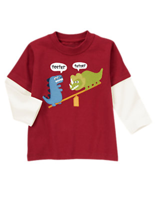 Burgundy Teeter Totter Dinosaur Tee by Gymboree