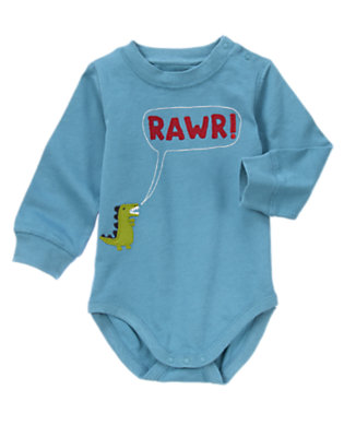 Dino Blue Rawr Dinosaur Bodysuit/Tee by Gymboree