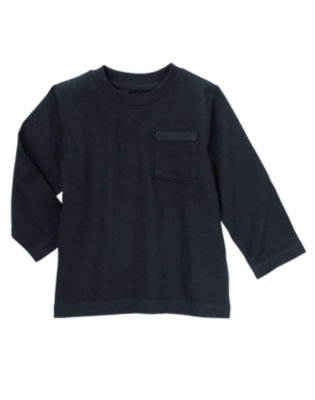 Toddler Boys Gym Navy Always Soft Pocket Tee by Gymboree