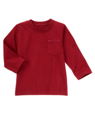 Burgundy Always Soft Pocket Tee by Gymboree