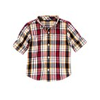 Plaid Roll Cuff Shirt