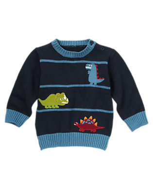 Gym Navy Dinosaurs Sweater by Gymboree