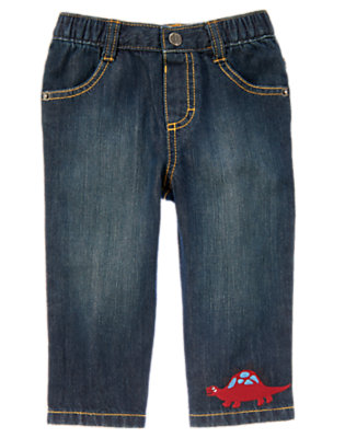 Denim Dinosaur Jean by Gymboree